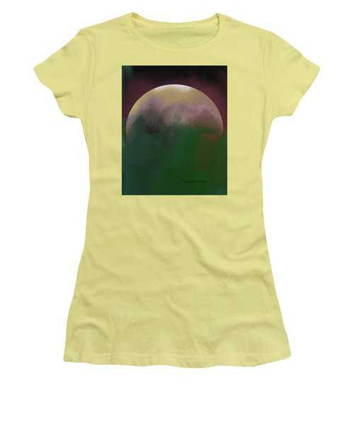 Earth And Moon Women's T-Shirt (Junior Cut) by Lenore Senior