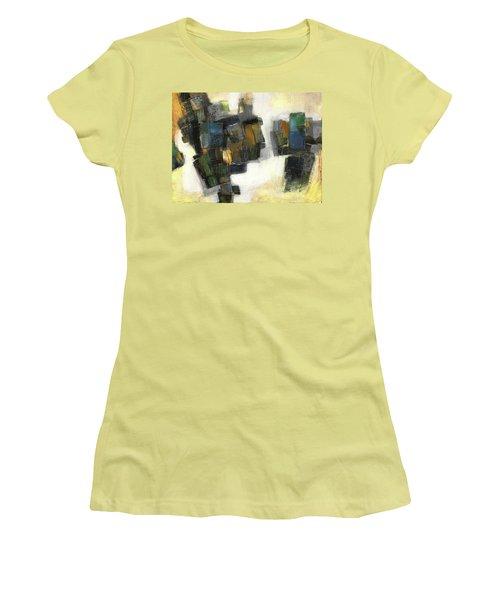 Lemon And Tiles Women's T-Shirt (Athletic Fit)