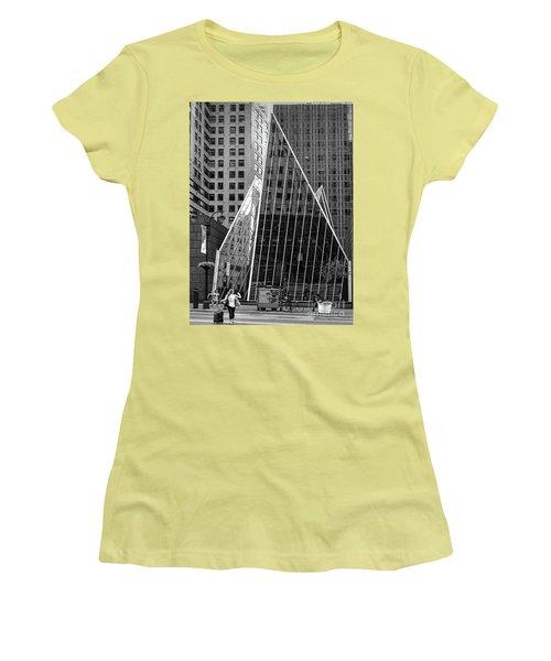 East 42nd Street, New York City  -17663-bw Women's T-Shirt (Junior Cut) by John Bald