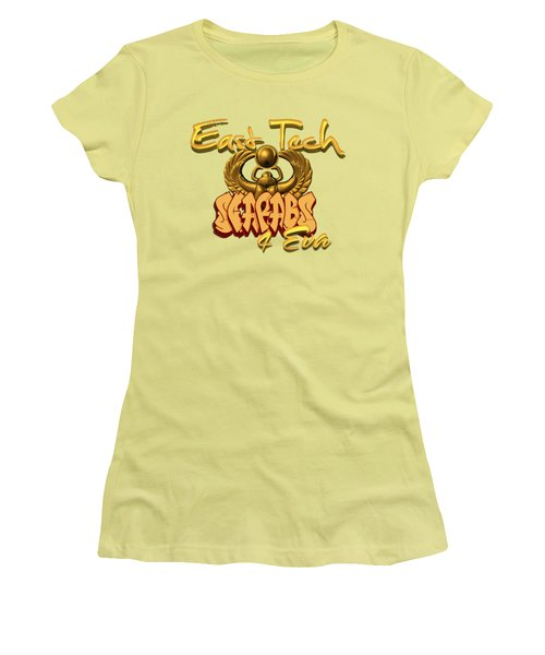 East Tech Scarabs Women's T-Shirt (Junior Cut) by Romaine Head