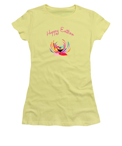 Easter Basket Women's T-Shirt (Junior Cut) by Methune Hively
