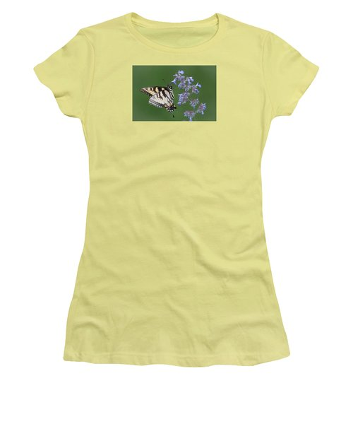 Eastern Tiger Swallowtail Profile Women's T-Shirt (Junior Cut) by Patti Deters