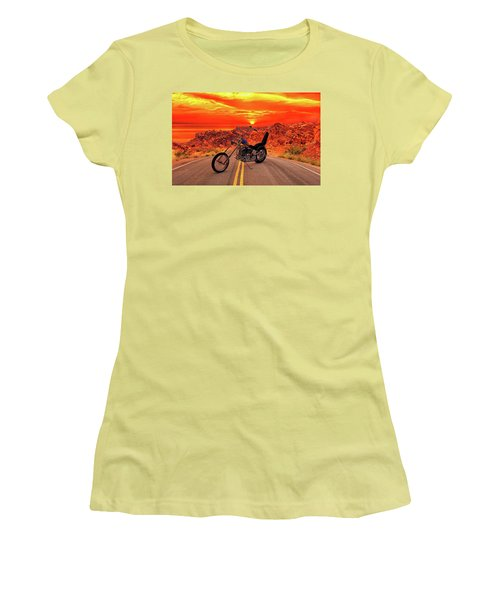 Easy Rider Chopper Women's T-Shirt (Athletic Fit)