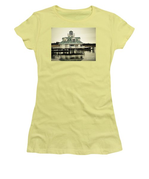 Eating On The River Women's T-Shirt (Junior Cut) by Melissa Messick