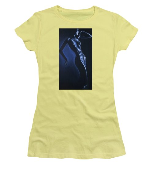 Women's T-Shirt (Athletic Fit) featuring the painting Eclipse by Jarko Aka Lui Grande