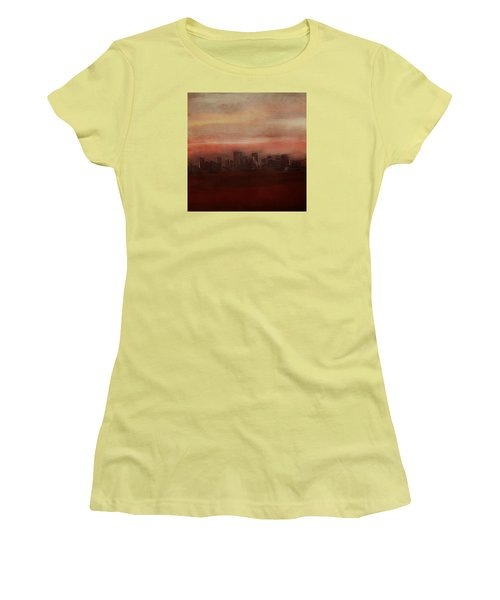 Edmonton At Sunset Women's T-Shirt (Athletic Fit)