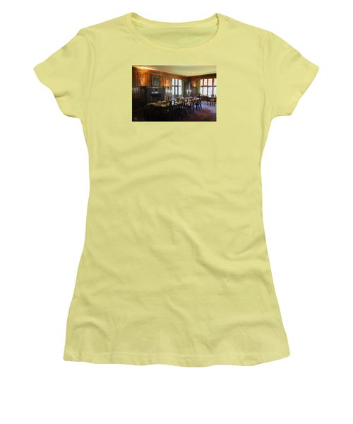 Women's T-Shirt (Junior Cut) featuring the photograph Edsel And Eleanor Ford Dining Room by Michael Rucker