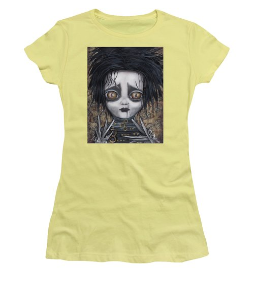 Edward Scissorhands Women's T-Shirt (Junior Cut) by Abril Andrade Griffith