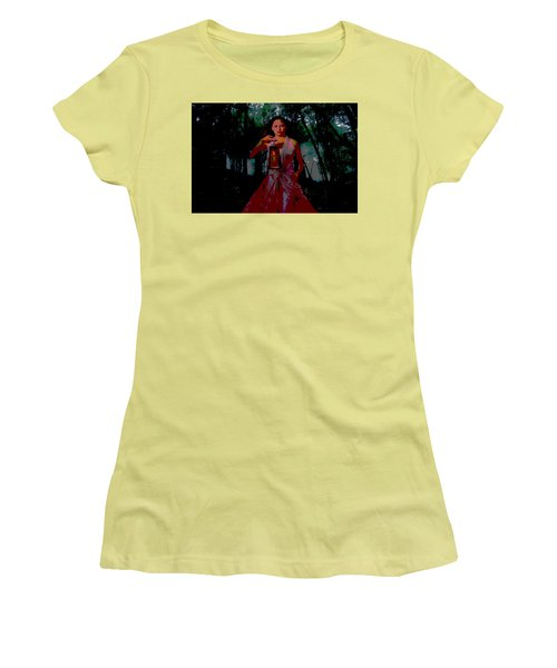 Women's T-Shirt (Junior Cut) featuring the photograph Eerie Woods by Brian Hughes