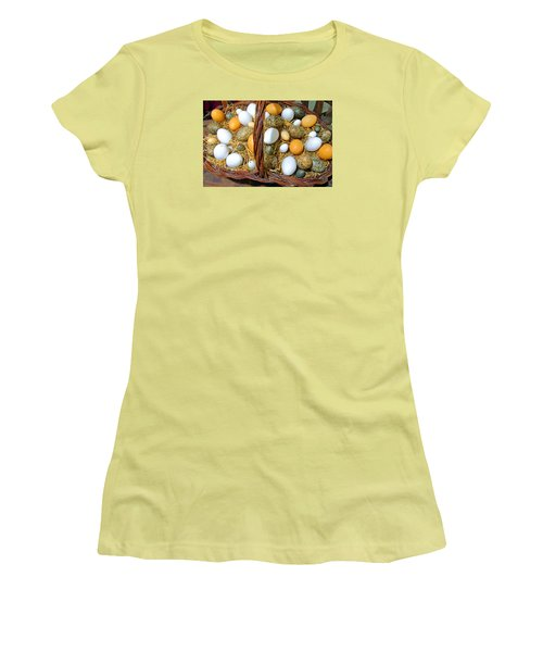 Eggs In All Sizes And Cool Colors Women's T-Shirt (Athletic Fit)