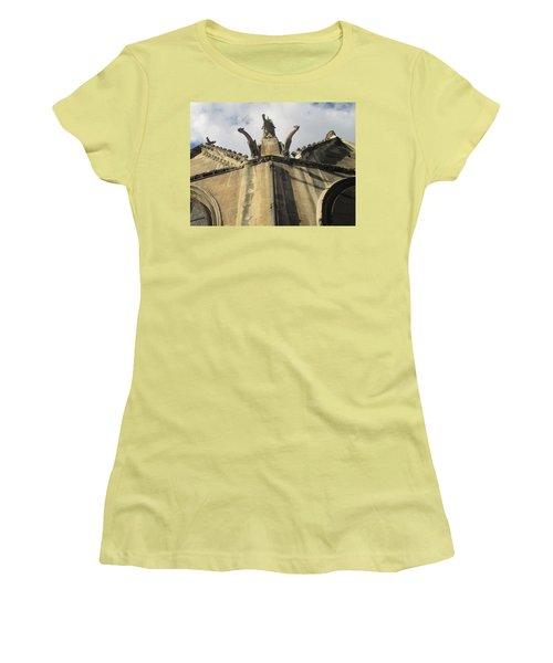 Women's T-Shirt (Junior Cut) featuring the photograph Eglise Saint-severin, Paris by Christopher Kirby