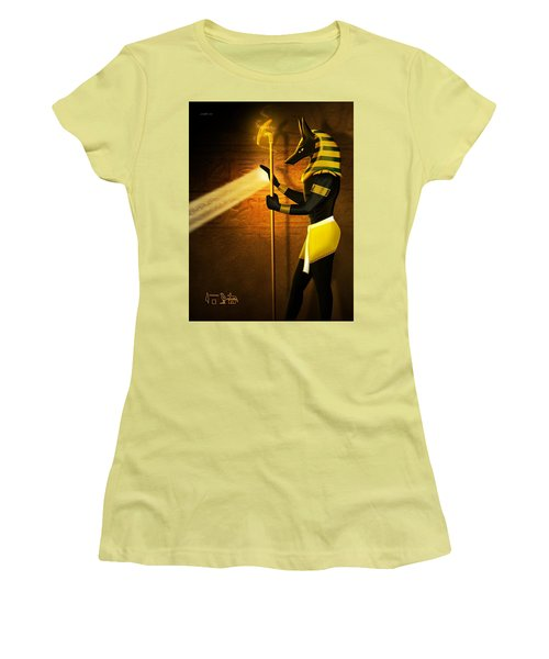 Egyptian God Anubis Women's T-Shirt (Athletic Fit)