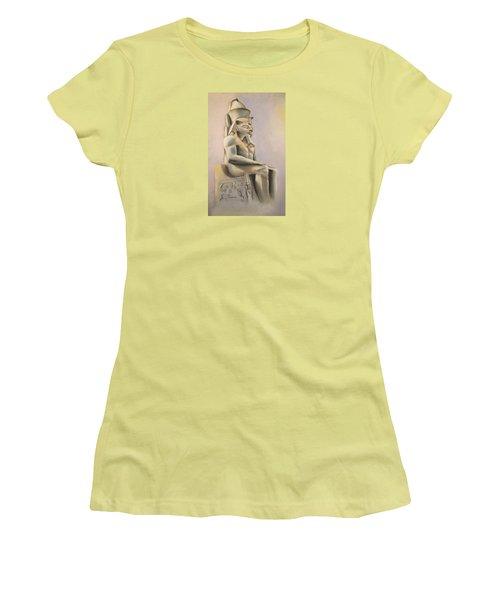 Women's T-Shirt (Junior Cut) featuring the pastel Egyptian Study II by Elizabeth Lock