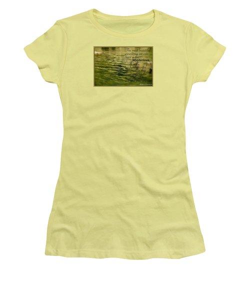 Einstein Mysterious Women's T-Shirt (Junior Cut) by David Norman