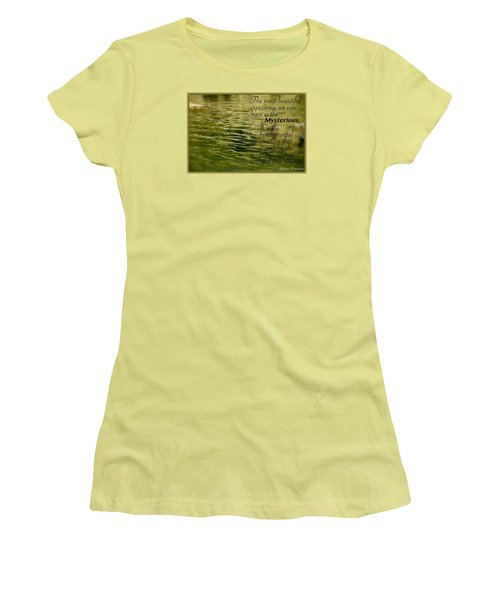 Einstein Mysterious Women's T-Shirt (Athletic Fit)