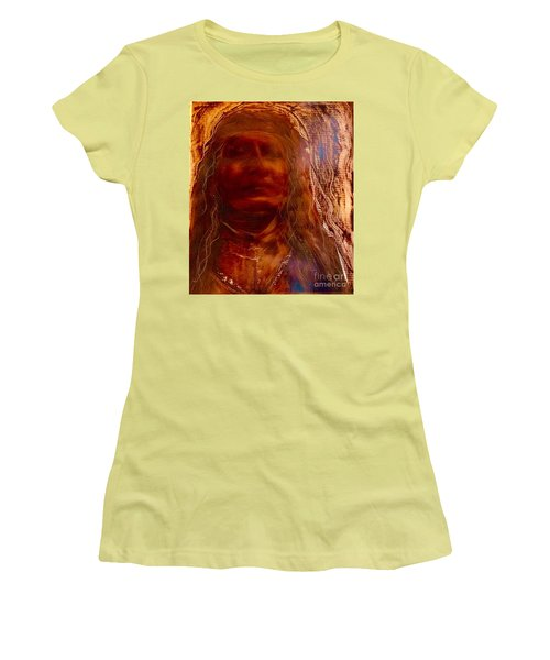 Women's T-Shirt (Junior Cut) featuring the painting Wisdomkeepers by FeatherStone Studio Julie A Miller