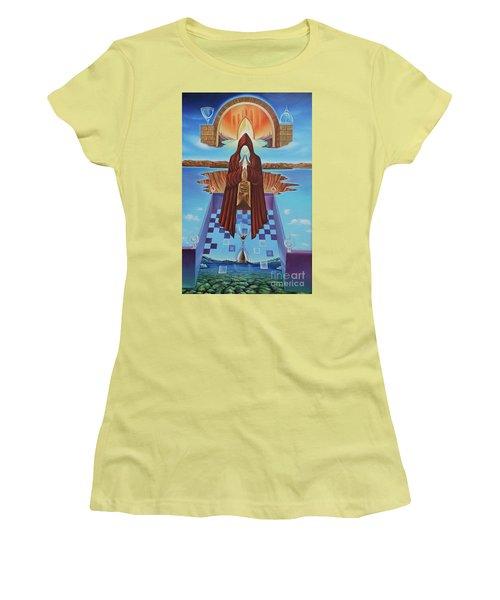 El Camino De La Luz Women's T-Shirt (Junior Cut) by Jorge L Martinez Camilleri