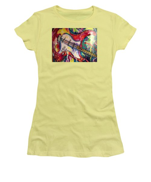 Electric Fusion  Women's T-Shirt (Junior Cut) by Heather Roddy