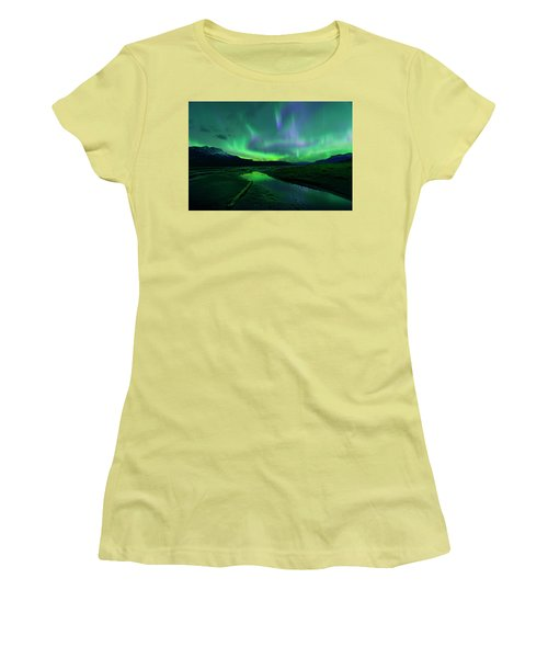 Electric Skies Over Jasper National Park Women's T-Shirt (Athletic Fit)