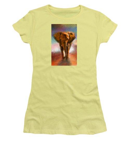 Elephant 1 Women's T-Shirt (Athletic Fit)