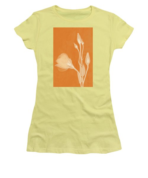 Elegance In Apricot Women's T-Shirt (Athletic Fit)