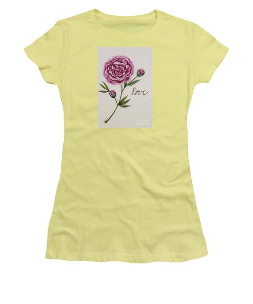 Women's T-Shirt (Junior Cut) featuring the painting Elegant Love by Elizabeth Robinette Tyndall