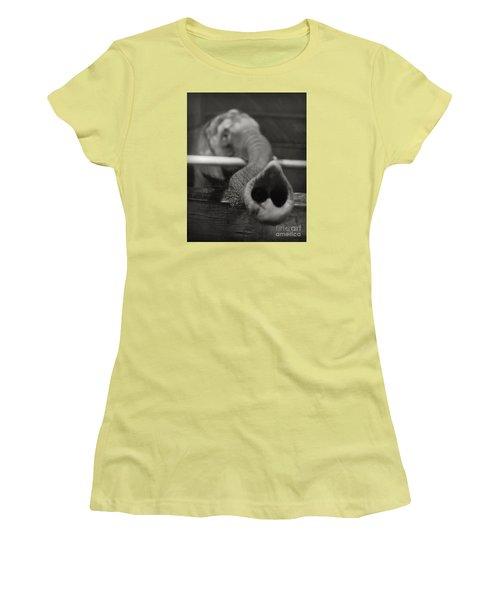 Women's T-Shirt (Junior Cut) featuring the photograph Elephant Trunk by Martin Konopacki