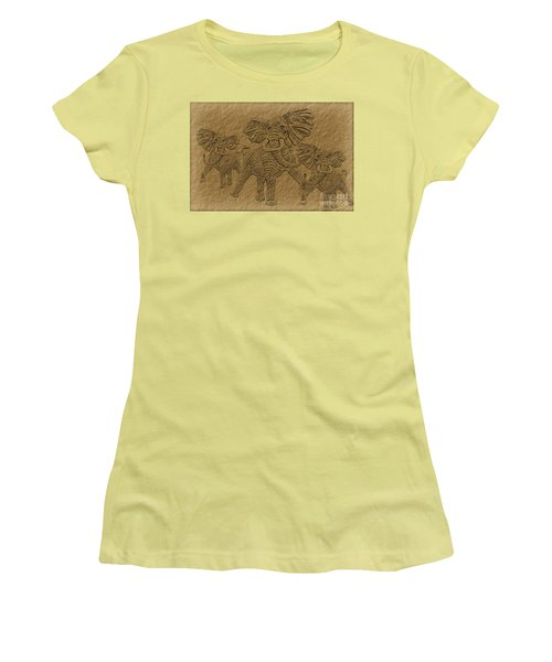 Elephants Three Women's T-Shirt (Athletic Fit)