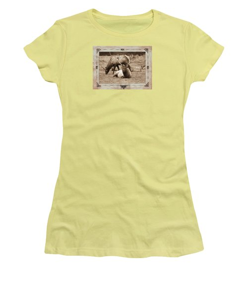 Women's T-Shirt (Junior Cut) featuring the photograph Elk by Athala Carole Bruckner