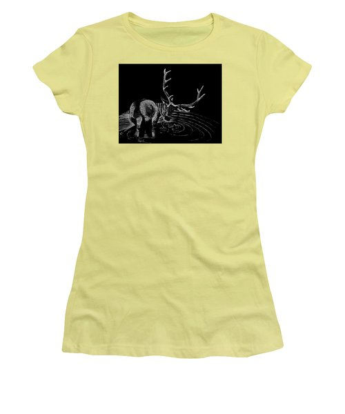Elk Women's T-Shirt (Junior Cut) by Lawrence Tripoli