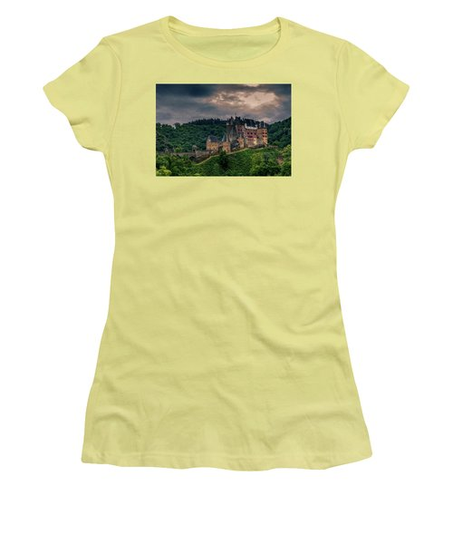 Eltz Castle Women's T-Shirt (Junior Cut) by Martina Thompson
