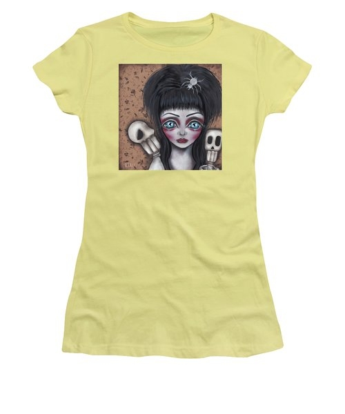 Elvira Women's T-Shirt (Junior Cut) by Abril Andrade Griffith