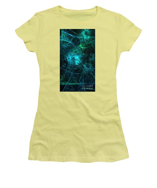 Emerald And Azure Align Women's T-Shirt (Athletic Fit)