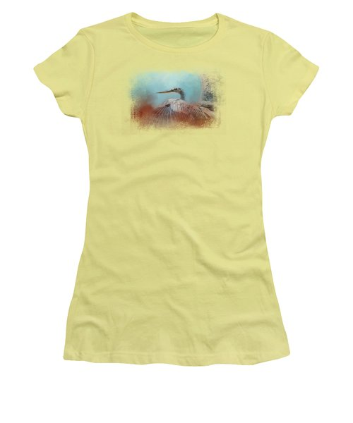 Emerging Heron Women's T-Shirt (Athletic Fit)
