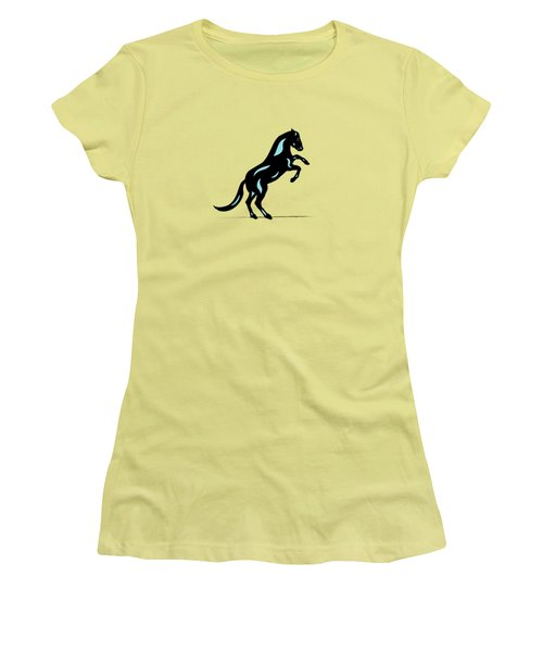 Emma II - Pop Art Horse - Black, Island Paradise Blue, Purple Women's T-Shirt (Athletic Fit)