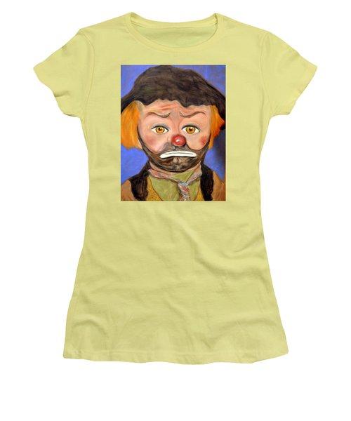 The Clown  Women's T-Shirt (Junior Cut) by Antonia Citrino