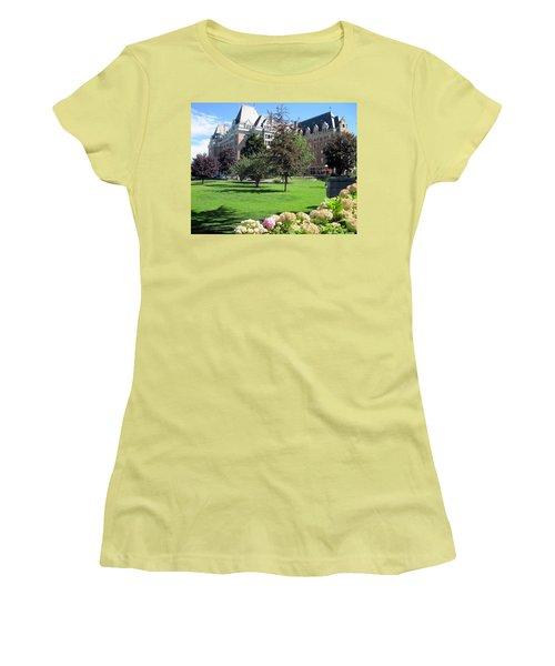 Empress Hotel Women's T-Shirt (Junior Cut) by Betty Buller Whitehead