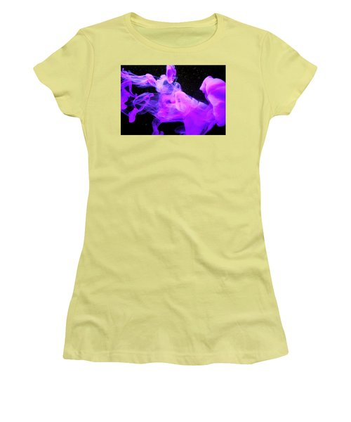 Emptiness In Harmony - Fine Art Photography - Paint Pouring Women's T-Shirt (Athletic Fit)