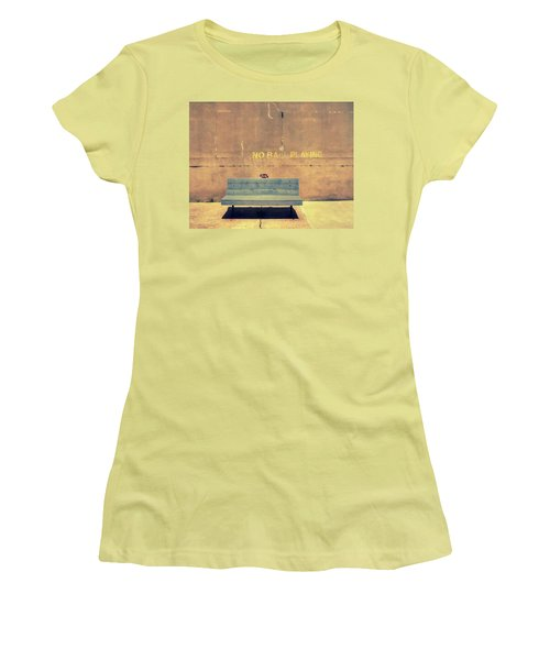 Empty Bench And Warning Women's T-Shirt (Athletic Fit)
