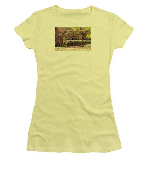Empty Dock Women's T-Shirt (Junior Cut) by Barbara Bowen