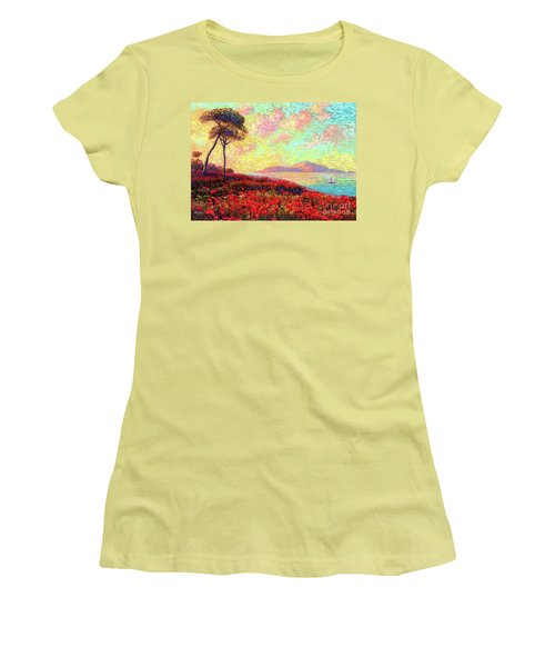 Enchanted By Poppies Women's T-Shirt (Athletic Fit)