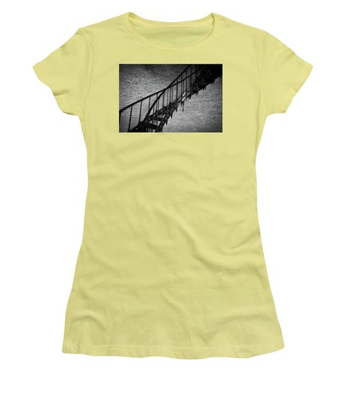 Enchanted Staircase II - Currituck Lighthouse Women's T-Shirt (Junior Cut) by David Sutton