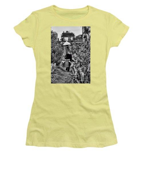 End Of The Day Vietnamese Woman  Women's T-Shirt (Junior Cut) by Chuck Kuhn