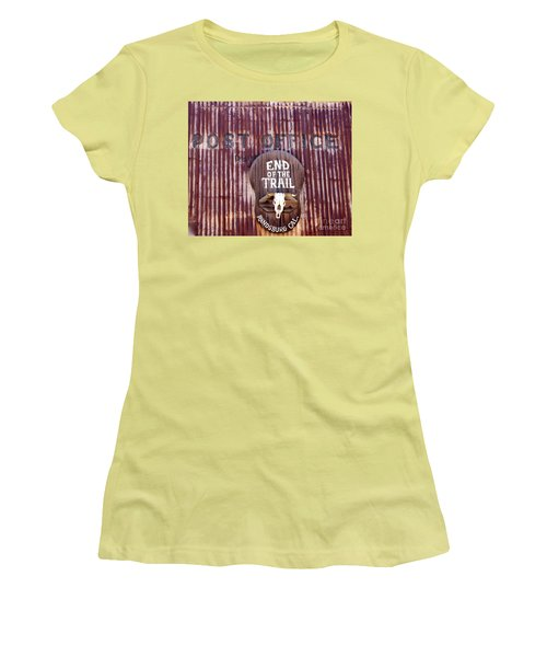 End Of The Trail Women's T-Shirt (Junior Cut) by Suzanne Lorenz