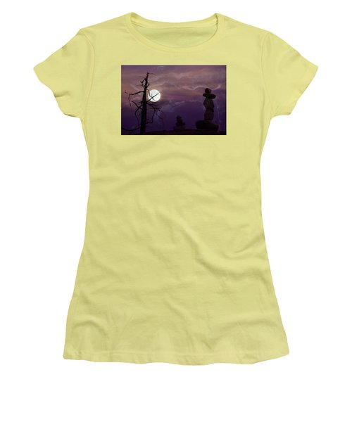 End Of Trail Women's T-Shirt (Junior Cut) by Ed Hall
