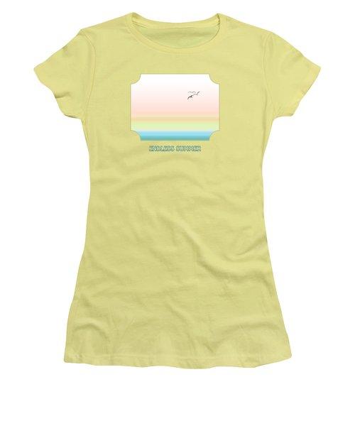 Endless Summer - Yellow Women's T-Shirt (Junior Cut) by Gill Billington