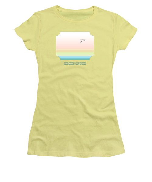 Endless Summer - Yellow Women's T-Shirt (Athletic Fit)