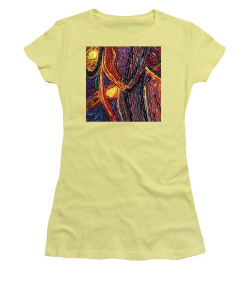 Energy Of Two Women's T-Shirt (Junior Cut) by Vadim Levin