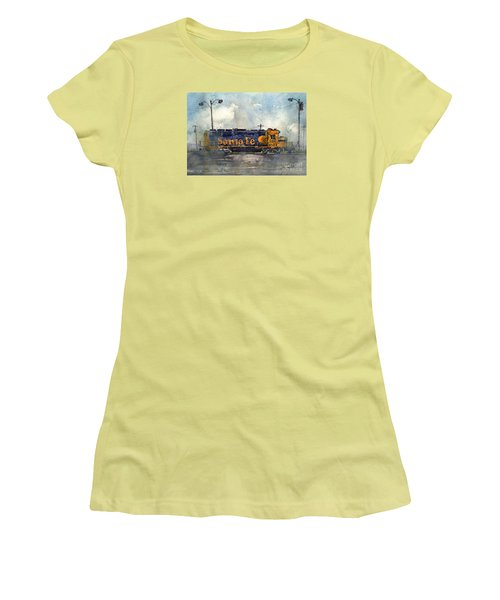 Women's T-Shirt (Junior Cut) featuring the painting Engine 3166 by Tim Oliver