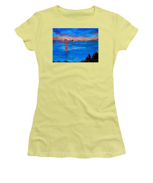 Enjoying The Sunset Differently Women's T-Shirt (Athletic Fit)